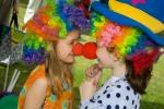 Children dressed as clowns